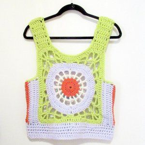 NEW Handmade Crocheted Cotton Camisole M/L
